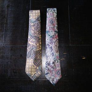 Lot of 2  Vintage Bill Blass Silk Ties E1